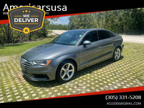 2016 Audi A3 for sale at Americarsusa in Hollywood FL