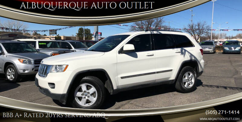 2012 Jeep Grand Cherokee for sale at ALBUQUERQUE AUTO OUTLET in Albuquerque NM