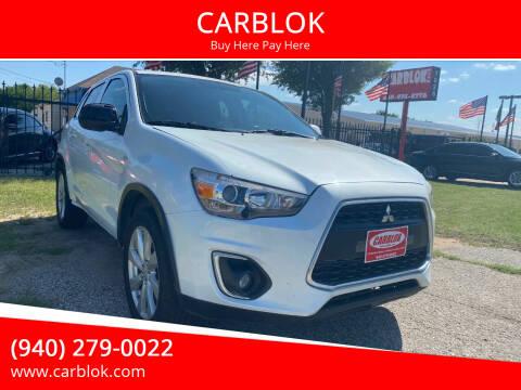 2014 Mitsubishi Outlander Sport for sale at CARBLOK in Lewisville TX