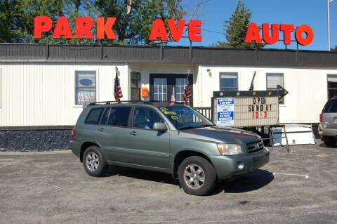 2007 Toyota Highlander for sale at Park Ave Auto Inc. in Worcester MA