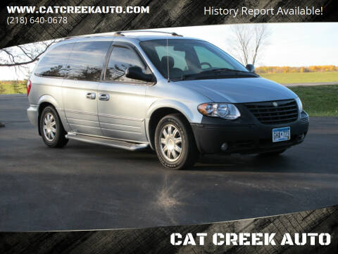 2005 Chrysler Town and Country for sale at CAT CREEK AUTO in Menahga MN