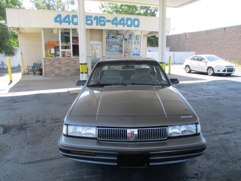 1991 Oldsmobile Cutlass Ciera for sale at Elite Auto Sales in Willowick OH
