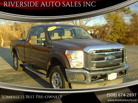 2012 Ford F-250 Super Duty for sale at RIVERSIDE AUTO SALES INC in Somerset MA