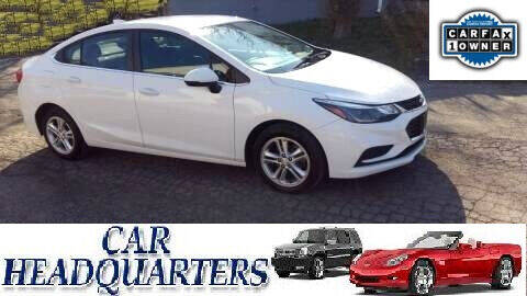 2016 Chevrolet Cruze for sale at CAR  HEADQUARTERS in New Windsor NY