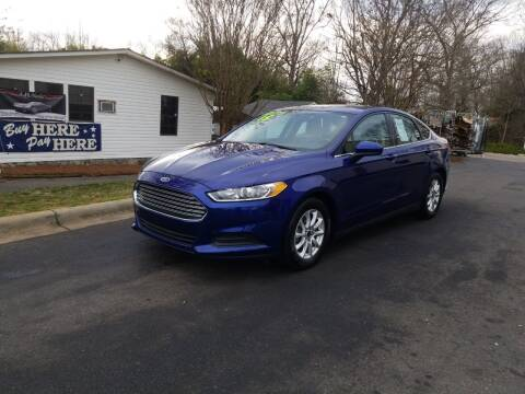2015 Ford Fusion for sale at TR MOTORS in Gastonia NC