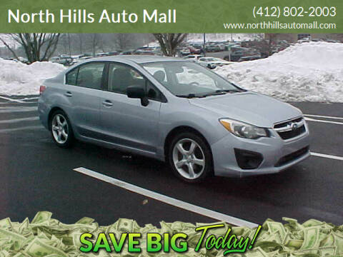 2013 Subaru Impreza for sale at North Hills Auto Mall in Pittsburgh PA