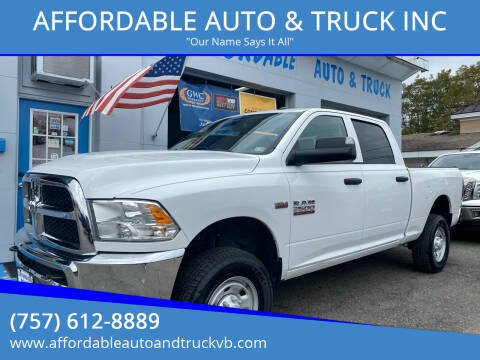 2016 RAM Ram Pickup 2500 for sale at AFFORDABLE AUTO & TRUCK INC in Virginia Beach VA