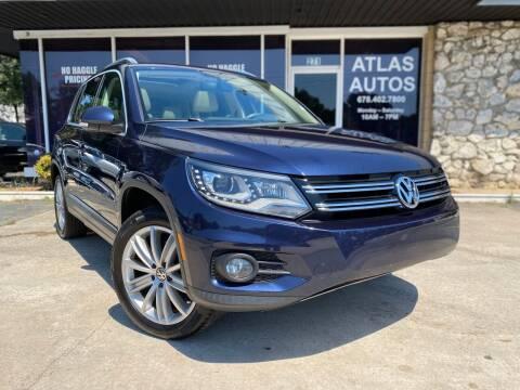 2016 Volkswagen Tiguan for sale at ATLAS AUTOS in Marietta GA