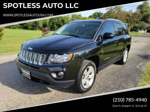 2017 Jeep Compass for sale at SPOTLESS AUTO LLC in San Antonio TX