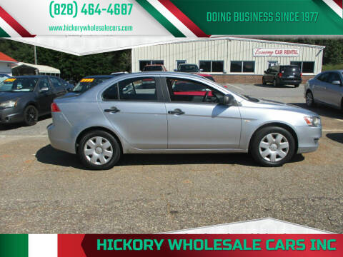 2008 Mitsubishi Lancer for sale at Hickory Wholesale Cars Inc in Newton NC