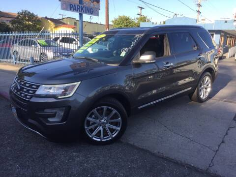 2017 Ford Explorer for sale at 2955 FIRESTONE BLVD in South Gate CA