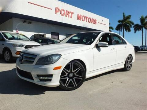 2013 Mercedes-Benz C-Class for sale at Automotive Credit Union Services in West Palm Beach FL
