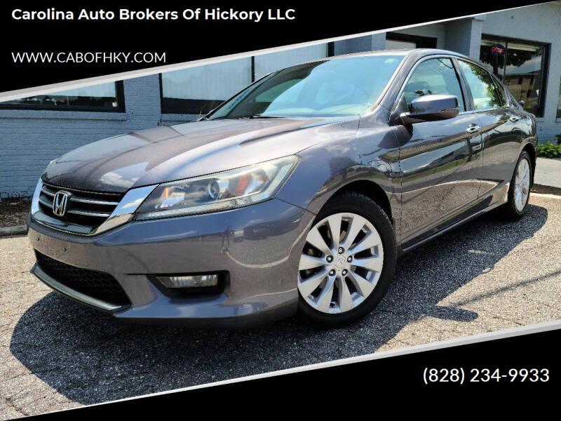2014 Honda Accord for sale at Carolina Auto Brokers of Hickory LLC in Newton NC