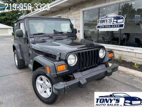 2005 Jeep Wrangler for sale at Tonys Auto Sales Inc in Wheatfield IN