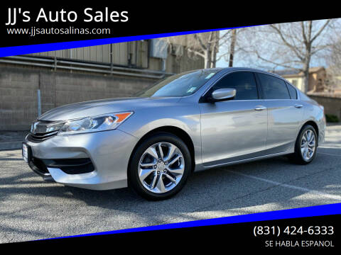 2017 Honda Accord for sale at JJ's Auto Sales in Salinas CA