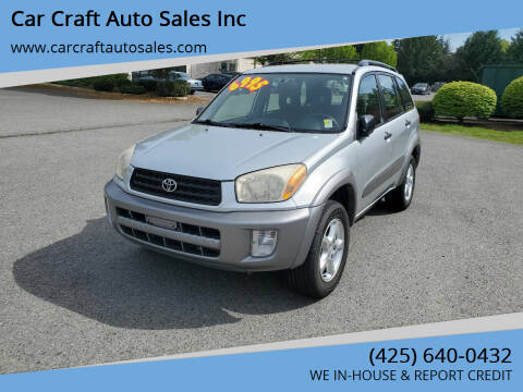 2002 Toyota RAV4 for sale at Car Craft Auto Sales Inc in Lynnwood WA