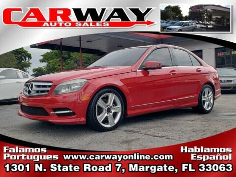 2011 Mercedes-Benz C-Class for sale at CARWAY Auto Sales in Margate FL