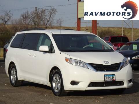 2014 Toyota Sienna for sale at RAVMOTORS in Burnsville MN