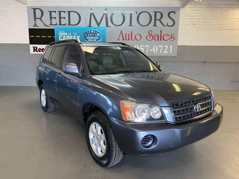 2003 Toyota Highlander for sale at REED MOTORS LLC in Phoenix AZ