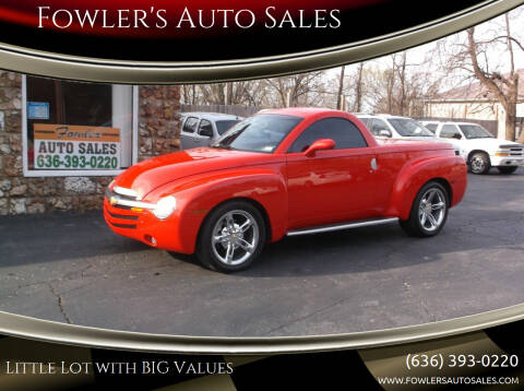 2004 Chevrolet SSR for sale at Fowler's Auto Sales in Pacific MO