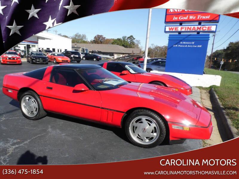 1989 Chevrolet Corvette for sale at CAROLINA MOTORS in Thomasville NC