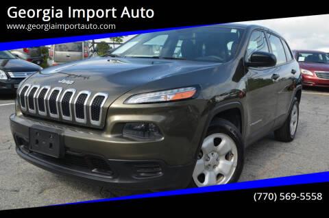 2014 Jeep Cherokee for sale at Georgia Import Auto in Alpharetta GA