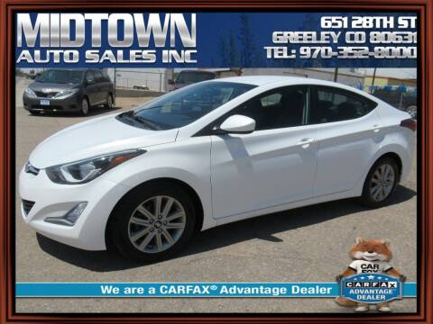 2015 Hyundai Elantra for sale at MIDTOWN AUTO SALES INC in Greeley CO