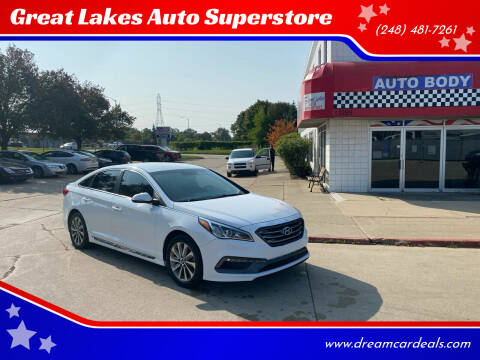 2015 Hyundai Sonata for sale at Great Lakes Auto Superstore in Pontiac MI