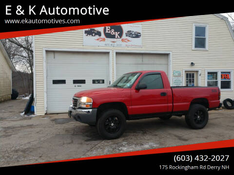 2007 GMC Sierra 1500 Classic for sale at E & K Automotive in Derry NH