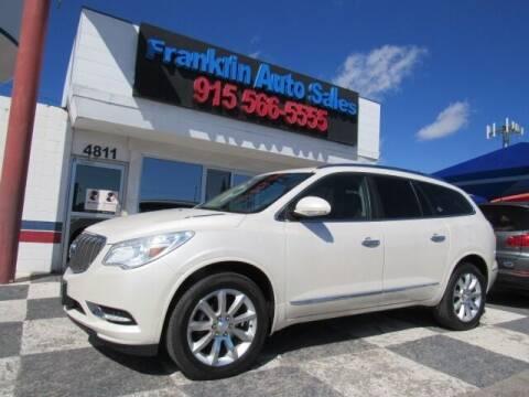 2013 Buick Enclave for sale at Franklin Auto Sales in El Paso TX