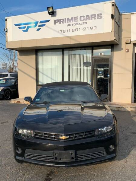 2014 Chevrolet Camaro for sale at Prime Cars Auto Sales in Saugus MA