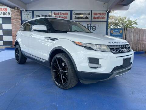 2013 Land Rover Range Rover Evoque for sale at ELITE AUTO WORLD in Fort Lauderdale FL