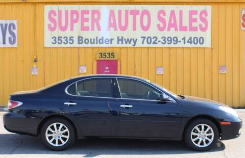 2002 Lexus ES 300 for sale at Super Auto Sales in Las Vegas NV
