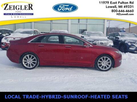 2016 Lincoln MKZ Hybrid for sale at Zeigler Ford of Plainwell- Jeff Bishop in Plainwell MI