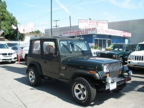 1995 Jeep Wrangler for sale at AUTO WHOLESALE OUTLET in North Hollywood CA