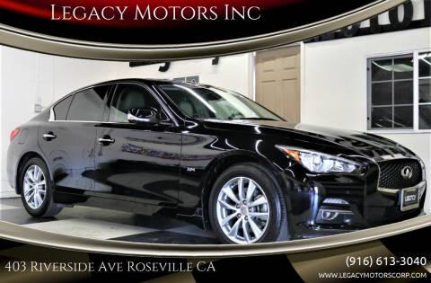 2016 Infiniti Q50 for sale at Legacy Motors Inc in Roseville CA