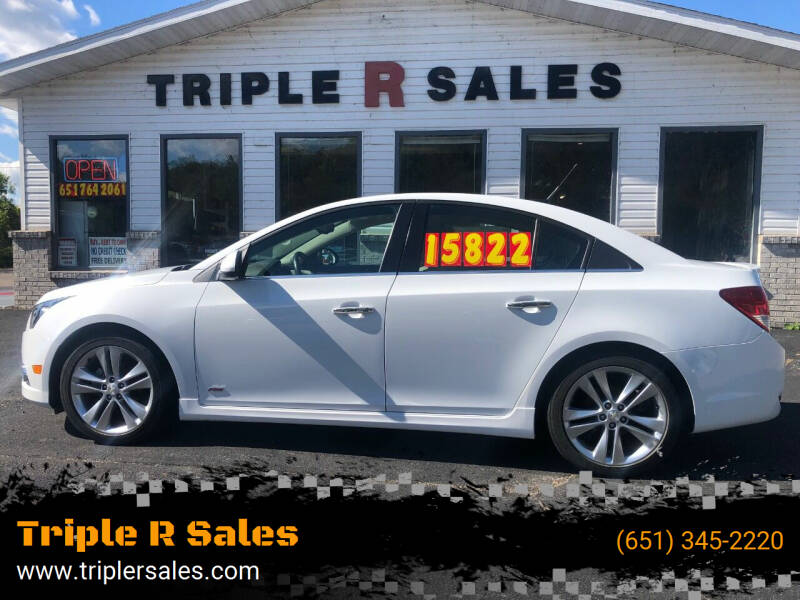 2014 Chevrolet Cruze for sale at Triple R Sales in Lake City MN