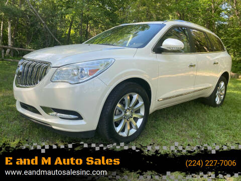 2013 Buick Enclave for sale at E and M Auto Sales in Elgin IL