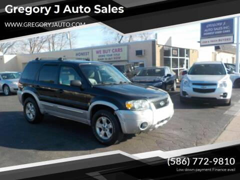 2007 Ford Escape for sale at Gregory J Auto Sales in Roseville MI
