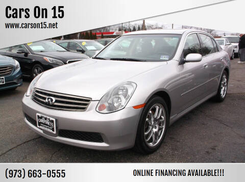 2005 Infiniti G35 for sale at Cars On 15 in Lake Hopatcong NJ