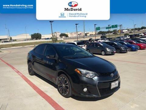 2016 Toyota Corolla for sale at DAVID McDAVID HONDA OF IRVING in Irving TX