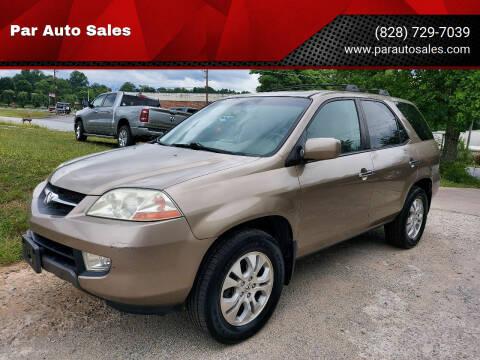 2003 Acura MDX for sale at Par Auto Sales in Lenoir NC