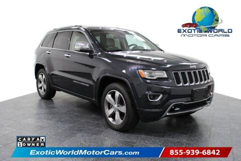 2014 Jeep Grand Cherokee for sale at Exotic World Motor Cars in Addison TX