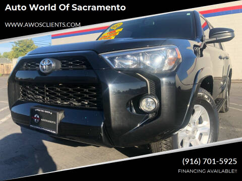 2018 Toyota 4Runner for sale at Auto World of Sacramento Stockton Blvd in Sacramento CA