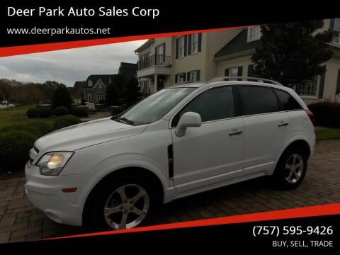 2013 Chevrolet Captiva Sport for sale at Deer Park Auto Sales Corp in Newport News VA