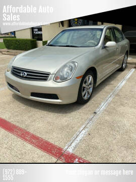2005 Infiniti G35 for sale at Affordable Auto Sales in Dallas TX