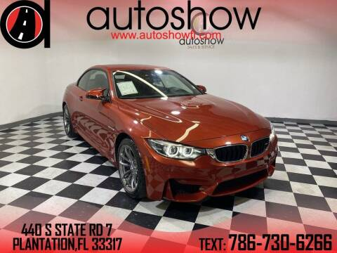 2020 BMW M4 for sale at AUTOSHOW SALES & SERVICE in Plantation FL