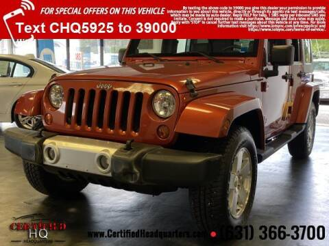 2009 Jeep Wrangler Unlimited for sale at CERTIFIED HEADQUARTERS in Saint James NY