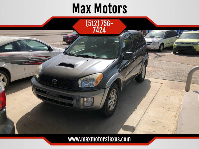 2003 Toyota RAV4 for sale at Max Motors in Corpus Christi TX