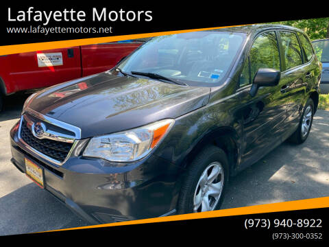 2014 Subaru Forester for sale at Lafayette Motors in Lafayette NJ